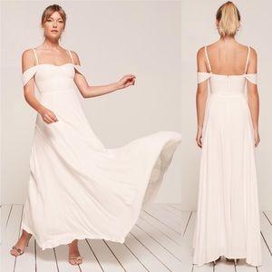 Reformation Poppy Maxi Dress in Ivory NEW